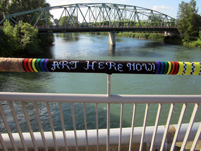 043 artherenowWeb1 Yarn Bombs and Guerilla Knits