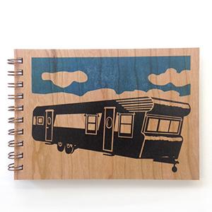 Trailer Wood Notebook