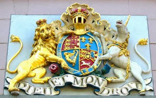 Royal coat of arms of the United Kingdom large Unicorns!