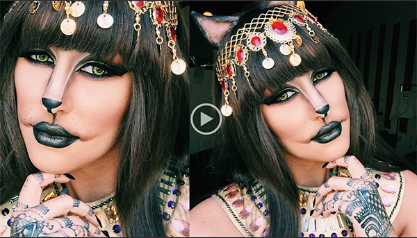 cleo catra Halloween Cat Makeup Tutorial—Meow!