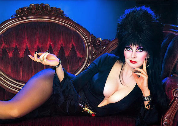 elvira couch Halloween Movie Party—Spitfire Girl Style!