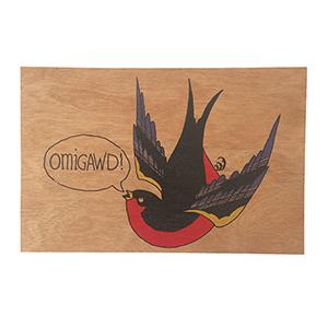 Omigawd Wood Postcard