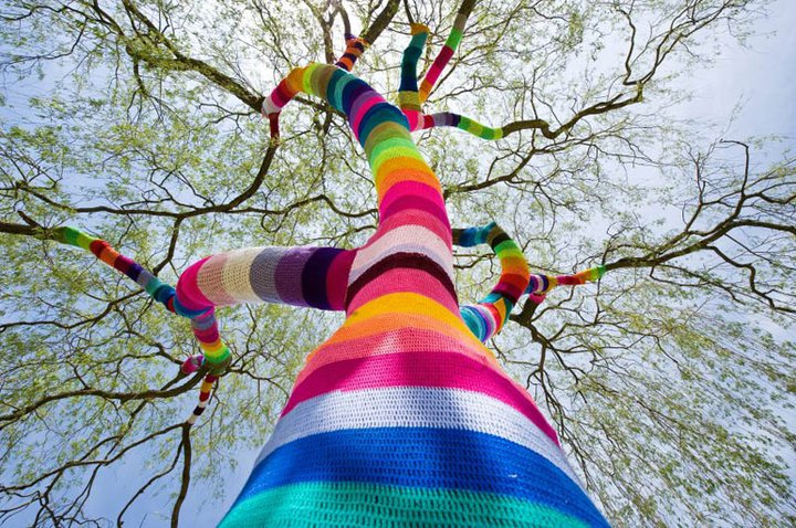 Yarn Bombs and Guerilla Knits